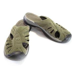 7 Men's Keen Green Slide Nubuck Sandal